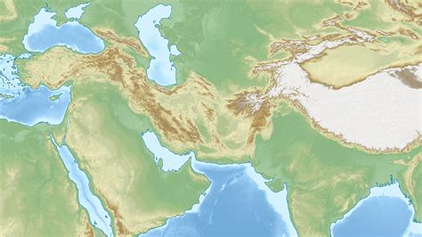 middle east map topographical iranian plateau wikiwand