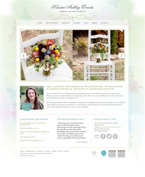 Wedding Event Website by Wedding Planner Web Design Archives Visual Lure