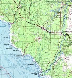 dixie county florida map dixie county 1975