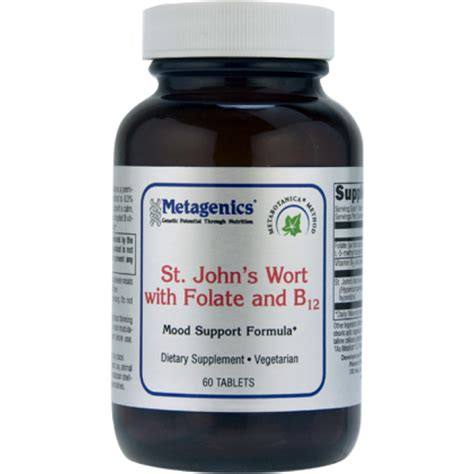 Is B12 For Detox by Metagenics St S Wort With Folate B12 60 Tablets