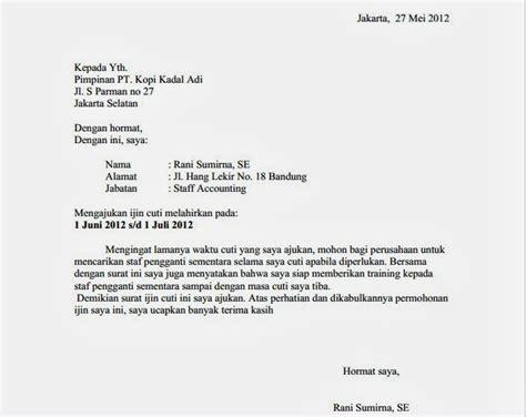 contoh surat permohonan cuti newhairstylesformen2014