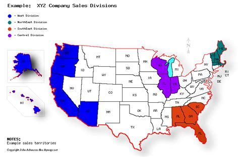 Us Map You Can Color Code