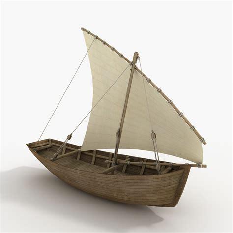 3d boat 3d model dhow boat
