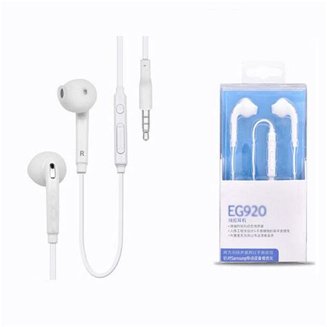 Earphone Samsung Karet S6 Headset Samsung Plus Mic Hansfree universal eg920 s6 headset in ear wired flat cable earphone with mic volume controls headphone