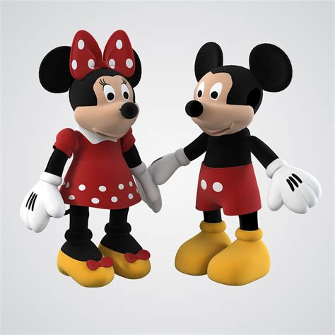 3d Mickey Mouse 3d model mickey mouse family