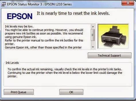 cara reset epson tx121x manual cara reset manual epson l210 printer area