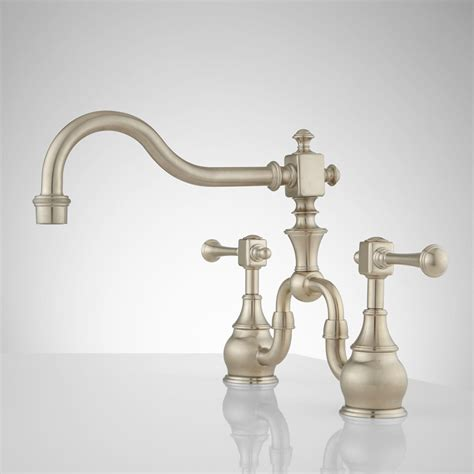 Vintage Kitchen Faucet | vintage bridge kitchen faucet lever handles kitchen