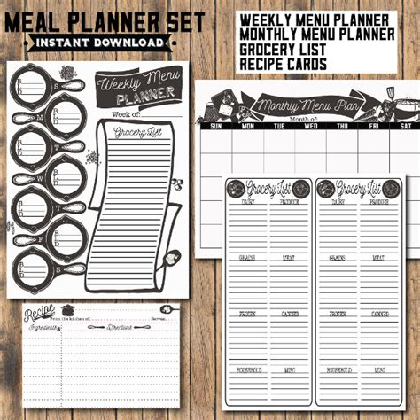 recipe planner template recipe planner template 28 images best 25 printable