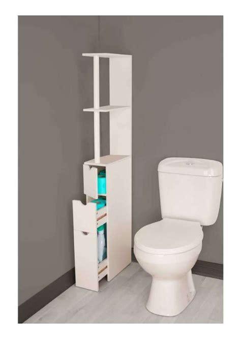 Meuble Salle De Bain Wc by Meuble De Rangement Wc Toilettes Ou Salle De Bains Blanc