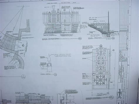 New Orleans Square Blueprints Blueprint Of Mansion House
