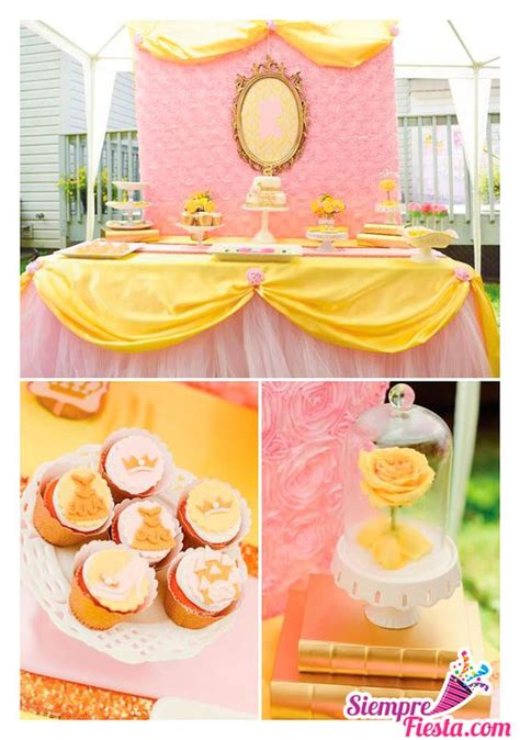 decoracion de fiesta de la princesa bella y la bestia disney ideas and ideas para fiestas on pinterest