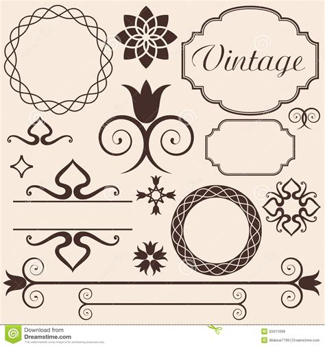 Antique Design Elements 30 Vector | vintage design elements stock vector image of antique