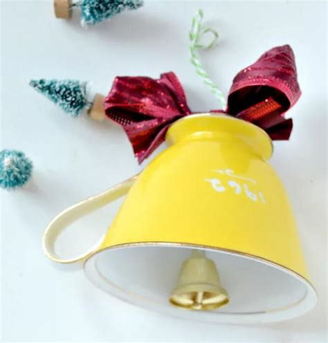 making christmas bell ornaments teacup bell ornament allfreechristmascrafts