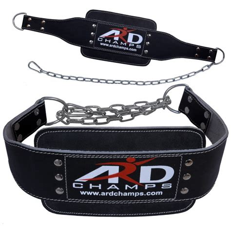 ard leather dip belt weight lifting 8 quot with chain