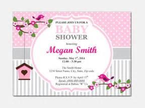 Baby Shower Invitations Diy Templates by Birds Baby Shower Invitation Diy Printable By Designtemplates