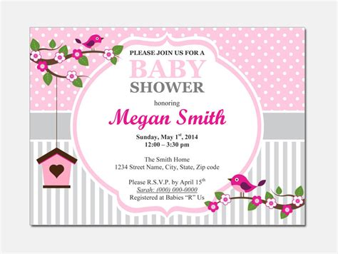 birds baby shower invitation diy printable by designtemplates