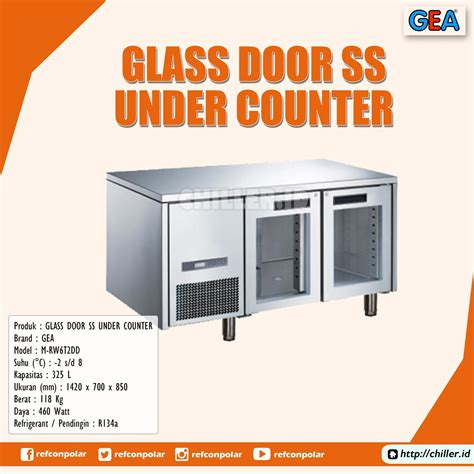 Counter Gea by Jual M Rw6t2dd Glass Door Stainless Steel Counter Gea