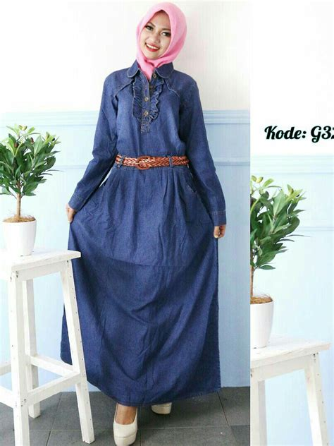 Baju Gamis Dress Maxy Linen Import Busui Frendly gamis ruffle with belt g326 baju style ootd