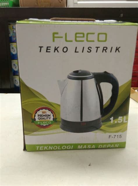 jual teko listrik pemanas air kettle electric fleco