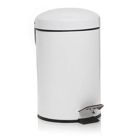bathroom bin wilko dome pedal bin white 3l at wilko com