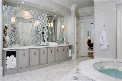 mirrored bathroom walls atlanta buckhead christmas showhouse interior