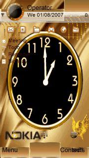 themes clock nokia c5 download golden nokia clock s60v5 theme nokia theme