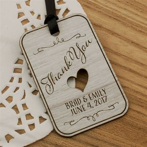 Engraved Wedding Gifts by Personalized Laser Engraved Formica Wedding Gift Tags 4