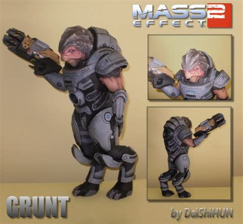 Mass Effect Papercraft - grunt papercraft by daishihun on deviantart