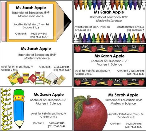 teacher business card teacher business cards business cards and