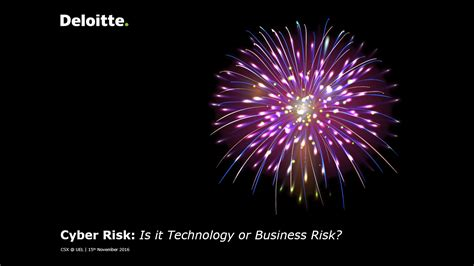 Deloitte Cyber Risk Mba by Cyber Risk Is It Technology Or Business Risk Andres