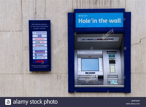 bank atm machine barclays bank in the wall atm machine