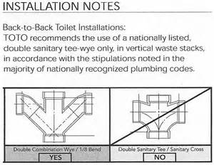 back to back toilet installation terry plumbing