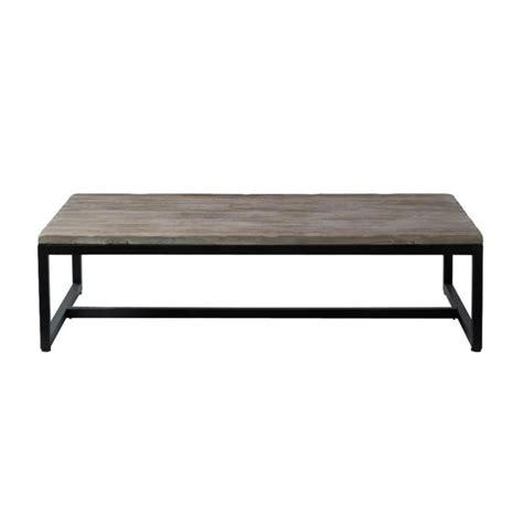 table basse indus en bois et m 233 tal island maisons