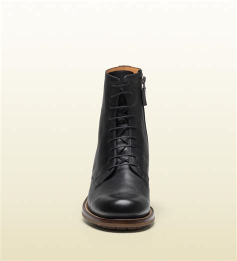 gucci laceup boot in black for lyst
