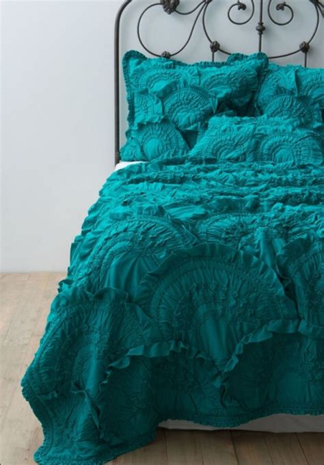 teal ruffle bedding pin by heather cox on beautiful bedding pinterest