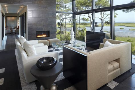 Houzz Modern Living Rooms by Modern House Modern Living Room Charleston By The