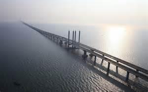 qingdao bridge wallpaper bridge horizon sea jiaozhou bay bridge
