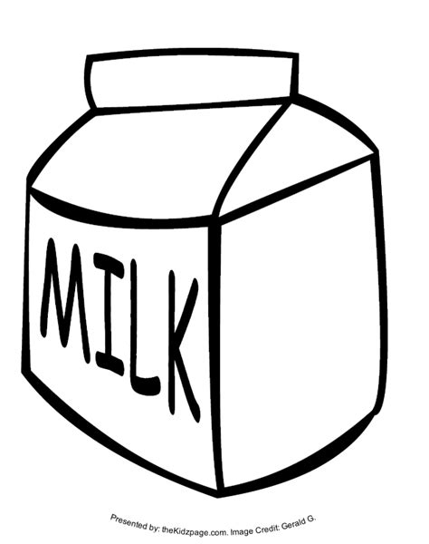 Of Milk Colouring Pages Page 2 Coloring Home Kids Free Coloring Sheets L