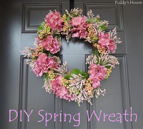 how to make a spring wreath for front door diy spring wreath puddy s house