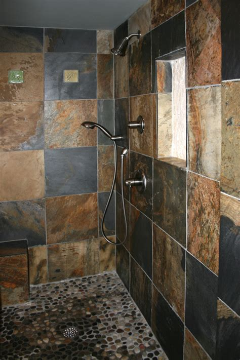slate bathroom shower tiles interesting slate tile shower floor using slate