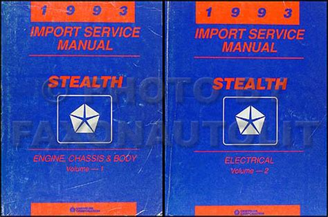 car repair manuals online pdf 1993 dodge stealth electronic valve timing 1993 dodge stealth repair shop manual original set es r t and turbo