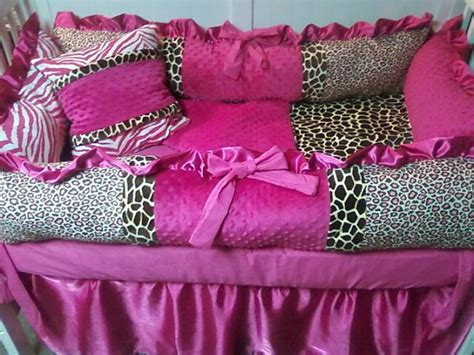 Pink Cheetah Crib Bedding Items Similar To Animal Print Crib Bedding Cheetah Giraffe Leopard And Zebra With Pink On
