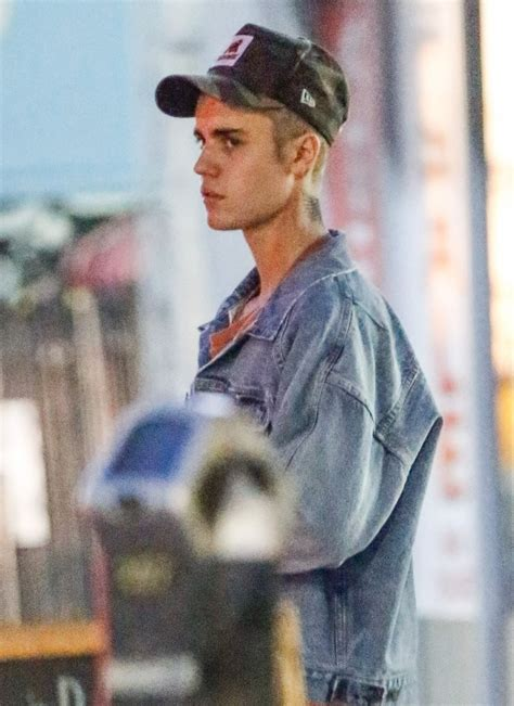 justin bieber new tattoo neck justin bieber shows off his new neck tattoo in weho zimbio