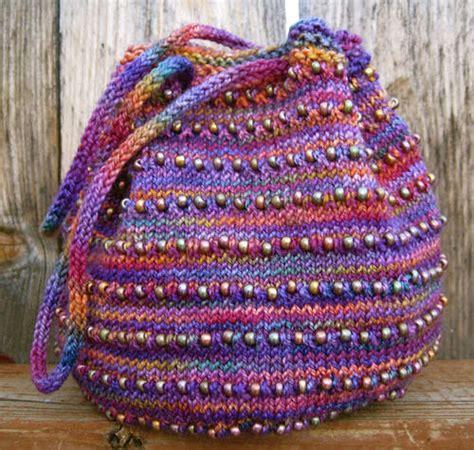 stricken taschen schoenstricken de tasche mit perlen stricken