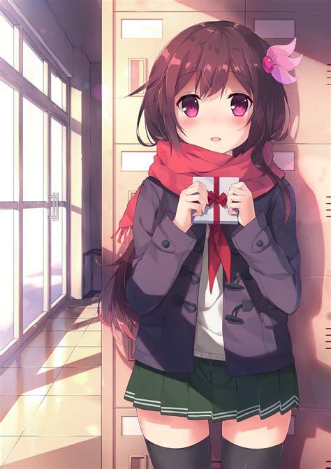 anime girl school uniform wallpaper kantai collection original anime girl cute school uniform