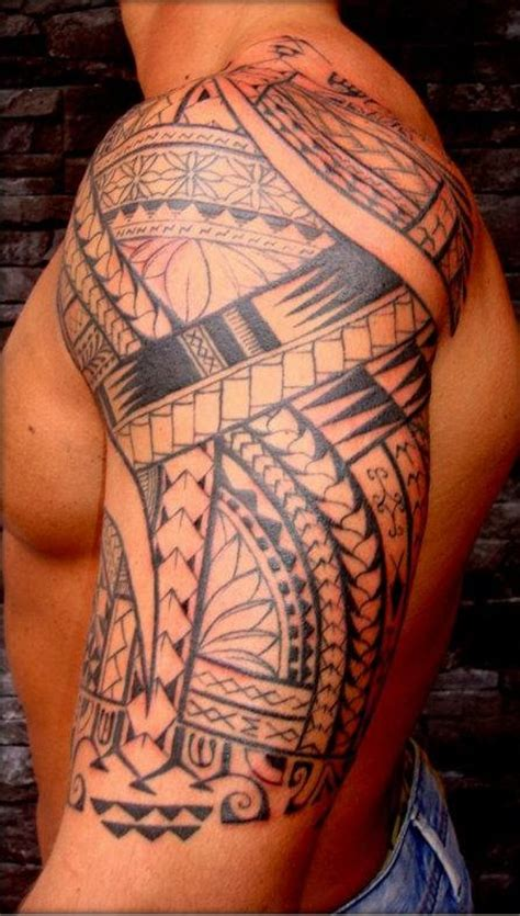 tribal tattoos arm and shoulder tribal maori arm tattoos for models picture
