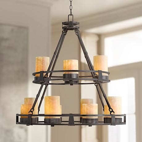faux candle chandelier lighting sunset onyx stone 12 light faux candle chandelier r6623