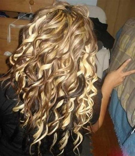 brown curly hair with low lights 25 beautiful haircuts for curly long hair long