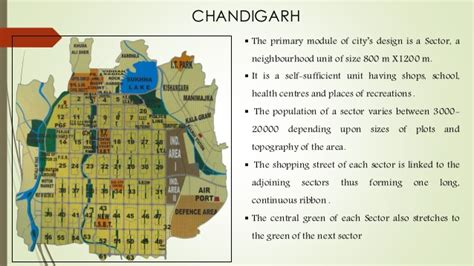 grid pattern of chandigarh city forms