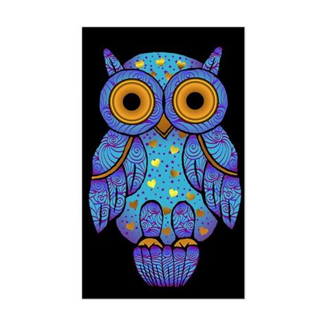Cp Owl T H00t Owl Rectangle Decal By Jaenne